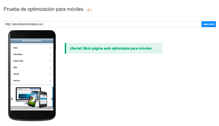 Prueba optimizacion moviles - Web adaptada a móvil