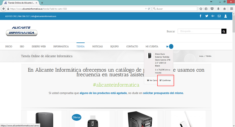 Alicante Informatica add to cart